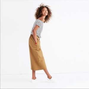 Madewell Mayfield Culotte khaki pants size medium